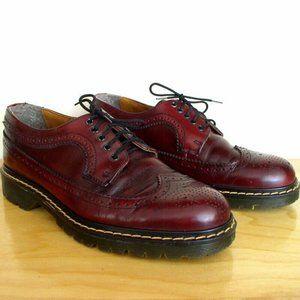 Vintage 90s Aldo Mens Oxblood Wingtip Loafer